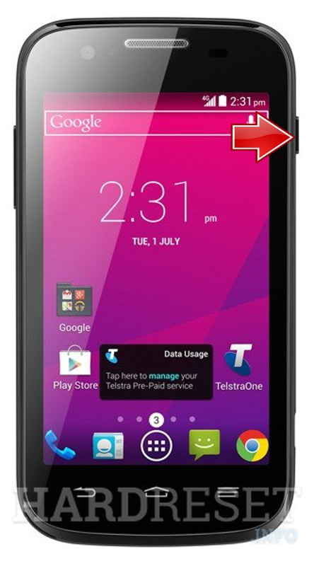 Hard Reset ZTE Telstra Evolution T80