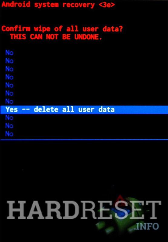 Wipe data SAMSUNG J200F Galaxy J2