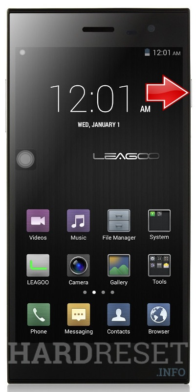 Hard Reset LEAGOO Lead 1