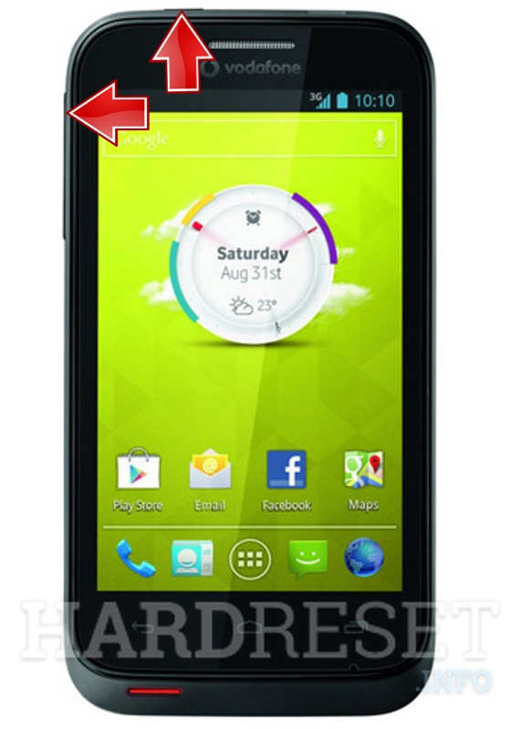 HardReset VODAFONE 875 Smart Mini