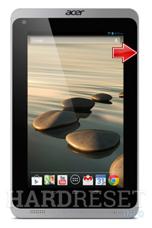 Master Reset ACER B1-720 Iconia Tab