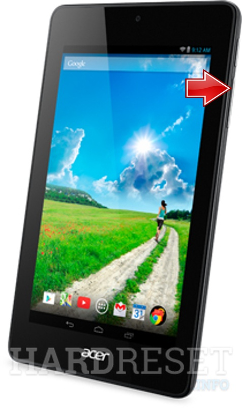 Master Reset ACER B1-730 Iconia One 7 Tab
