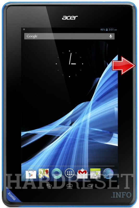 Master Reset ACER B1 Iconia Tab