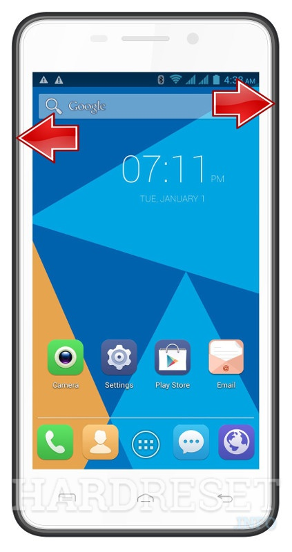 Remove screen password on DOOGEE Leo DG280