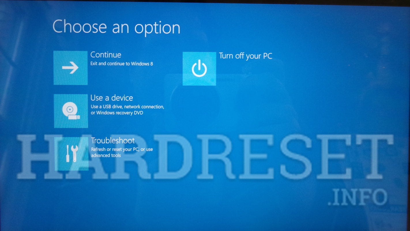 Hard reset планшета на windows 10
