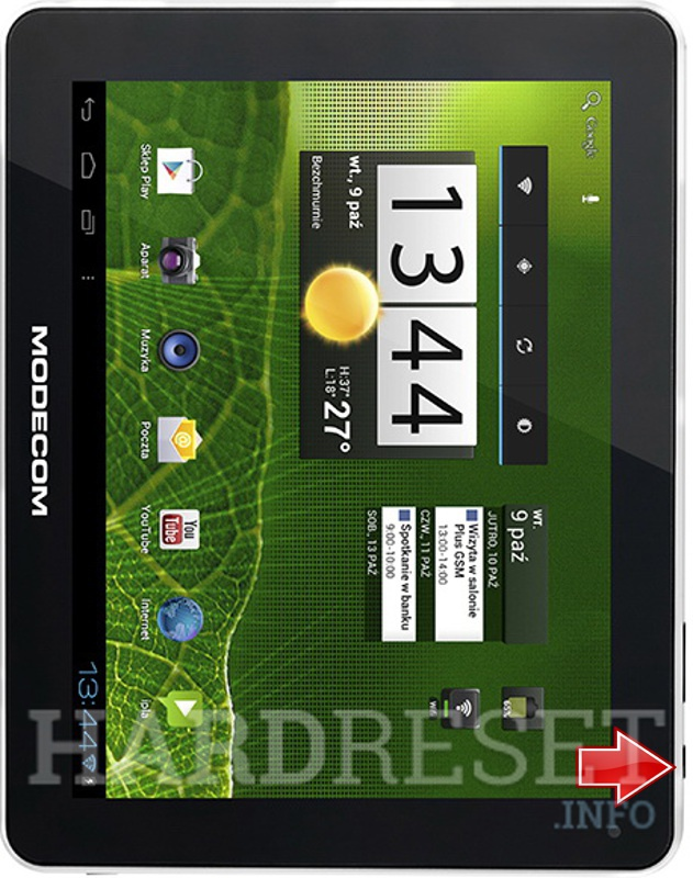 Hard Reset MODECOM FREETAB 9701 HD X1