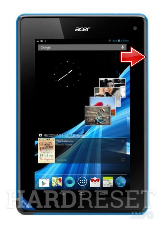 Master Reset ACER B1-A71 Iconia Tab