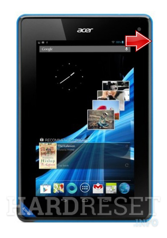 Hard Reset ACER B1-A71 Iconia Tab