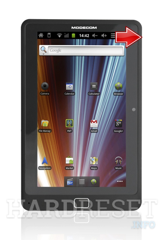 Hard Reset MODECOM FREEWAY TAB 7.0