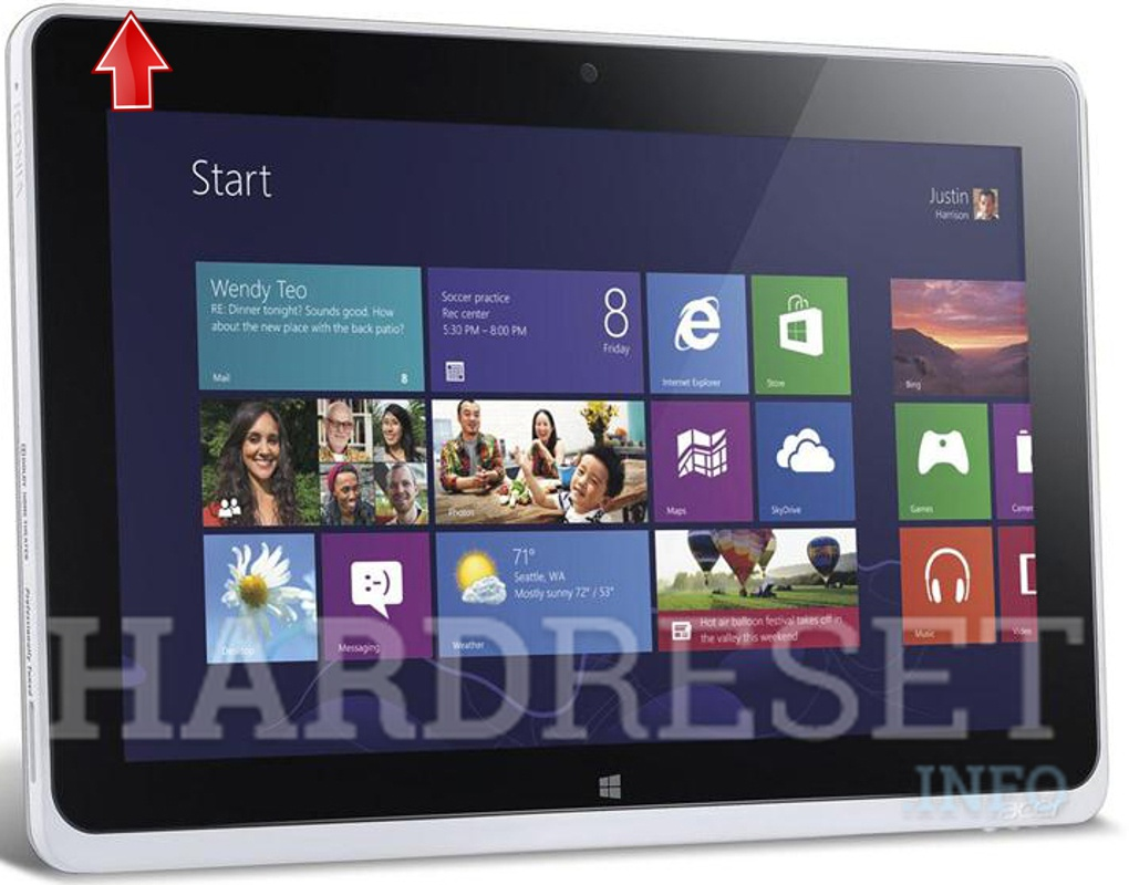 Hard Reset ACER W700 Iconia Tab