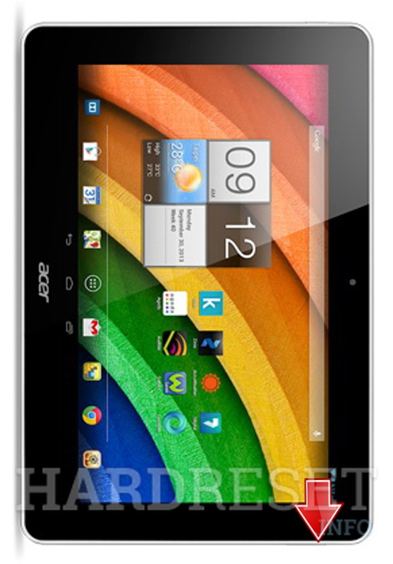 Master Reset ACER Iconia A3-A10