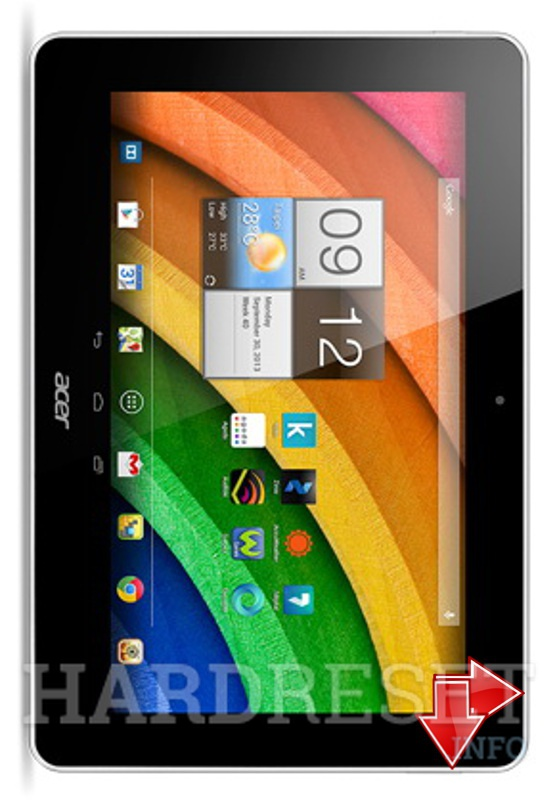 HardReset ACER Iconia A3-A10