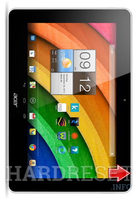 Hard Reset ACER Iconia A3-A10
