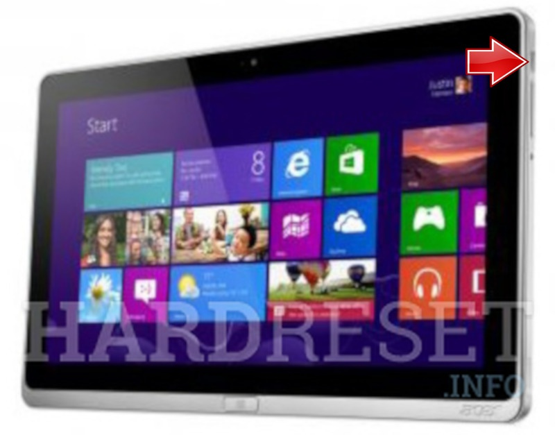 Hard Reset ACER W701 Iconia Tab
