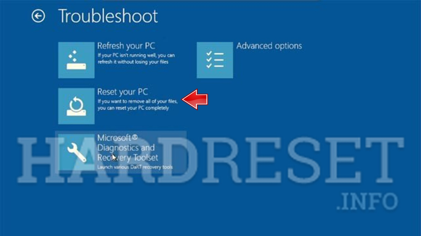how to reset surface book