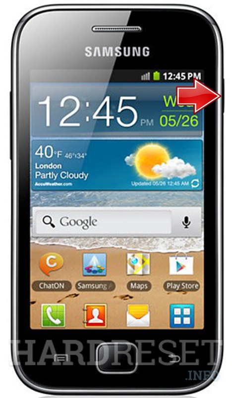 HardReset SAMSUNG S6800 GALAXY ACE ADVANCE