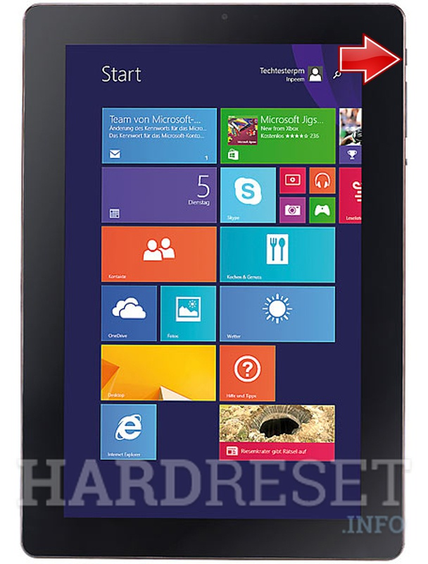 Hard Reset PEARL Touchlet XWi10