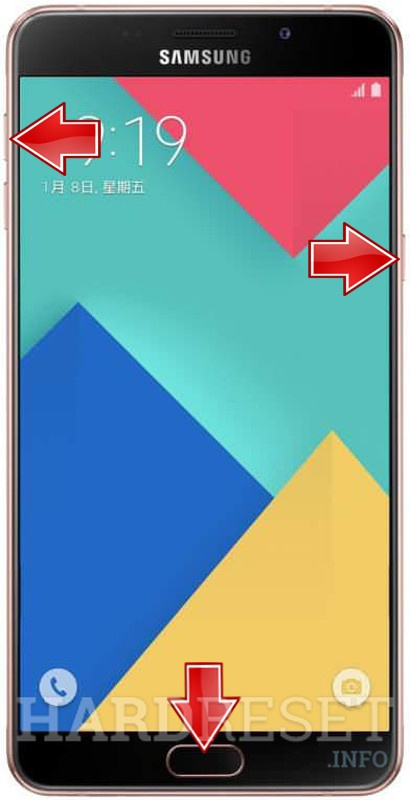 Remove screen password on SAMSUNG Galaxy A9