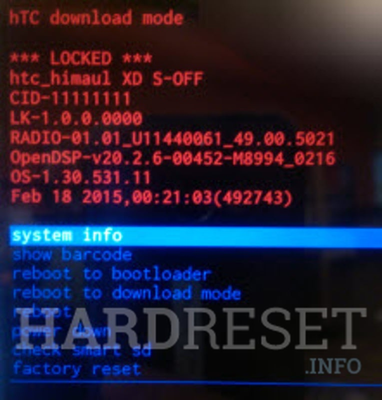Master Reset HTC One X9