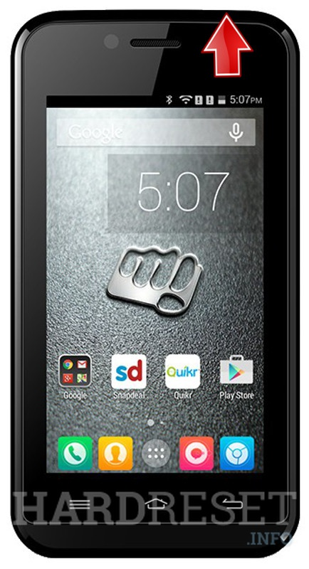 Hard Reset MICROMAX Bolt S301