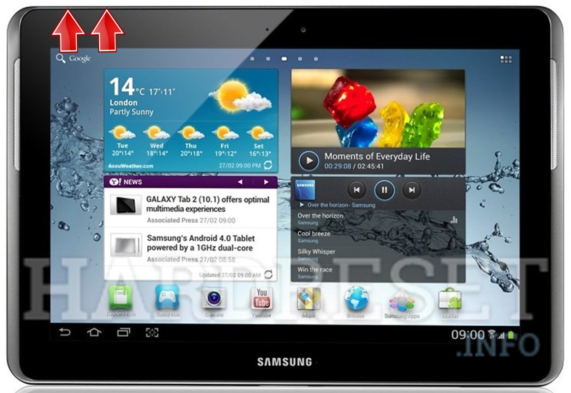HardReset SAMSUNG T779 Galaxy Tab 2 10.1 (T-Mobile)