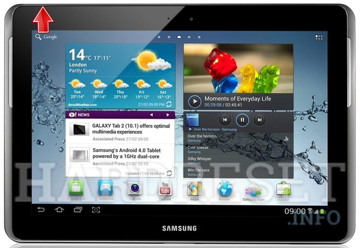 Hard Reset SAMSUNG T779 Galaxy Tab 2 10.1 (T-Mobile)