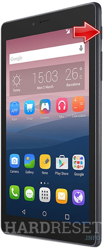 Hard Reset ALCATEL OneTouch PIXI 4 (7) 3G