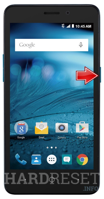 Wipe data on ZTE Avid Plus