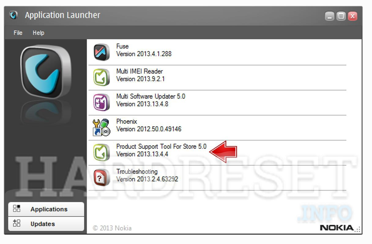 Nokia flash remove code Application luncher