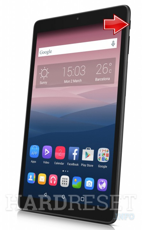 Recovery Mode ALCATEL OneTouch Pixi 3 (10) - HardReset info