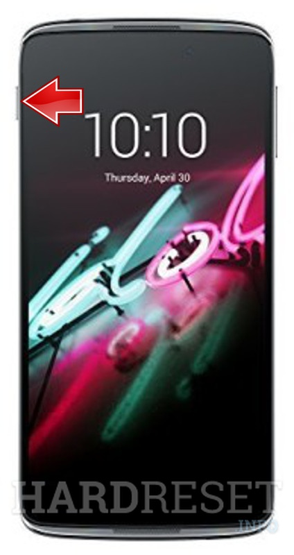 Remove screen password on ALCATEL ONE TOUCH IDOL 4 6055H