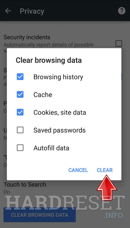 Deleting The Internet History How To Hardreset Info