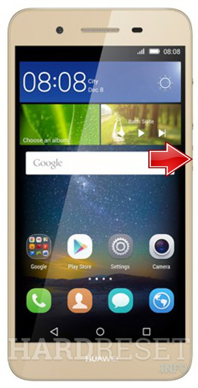 Remove screen password on HUAWEI GR3