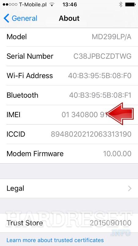 Check APPLE iPhone 8 Plus IMEI number - HardReset info