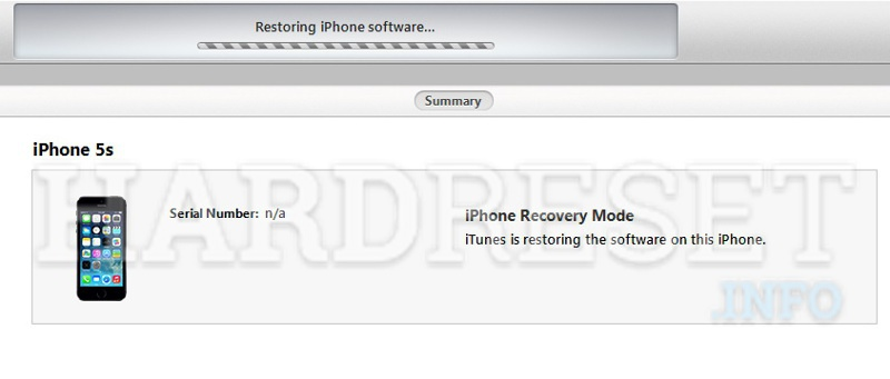 Restore APPLE iPhone SE