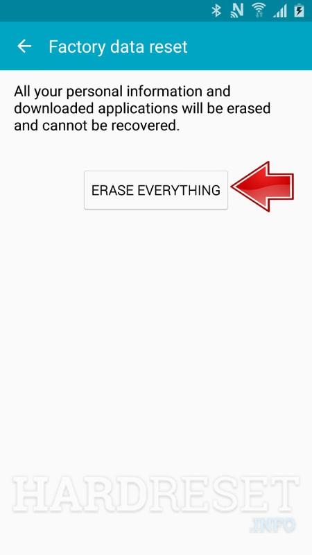 SAMSUNG J700F Galaxy J7 Erase everything