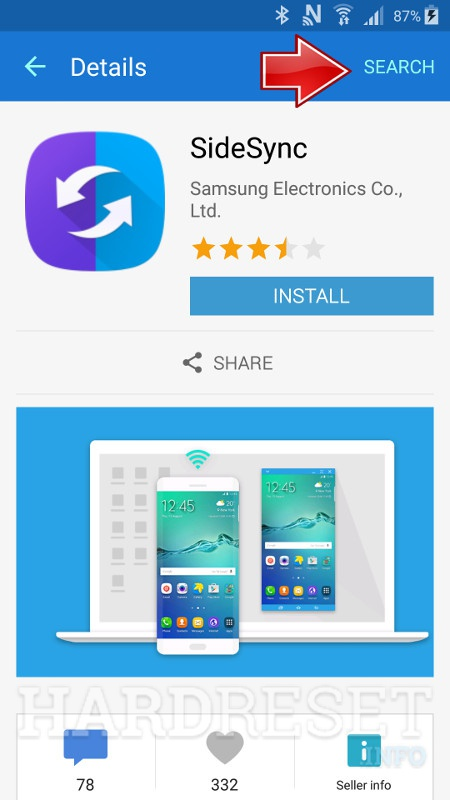 SAMSUNG J500F Galaxy J5 Apps Searcher