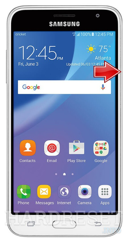 Remove screen password on SAMSUNG J320A Galaxy Amp Prime