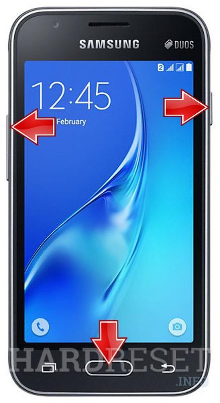 Hard Reset SAMSUNG J105F Galaxy J1 Mini - HardReset info