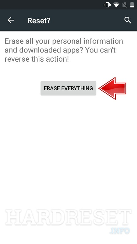 ZTE Paragon Erase Everything