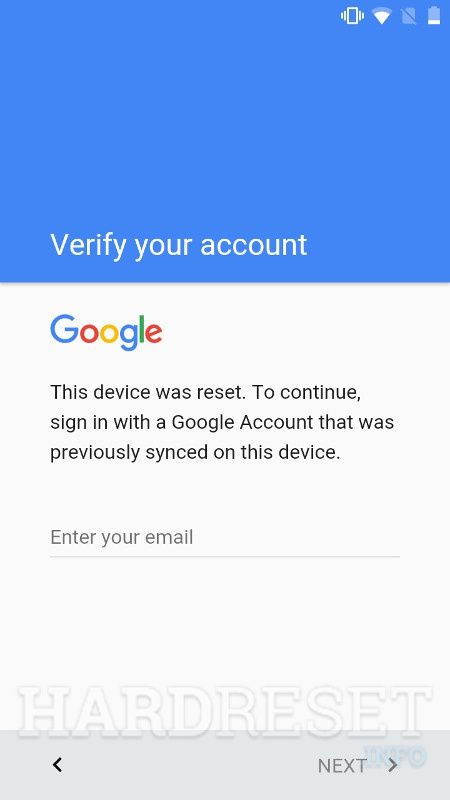 ZTE Paragon Verifying your account