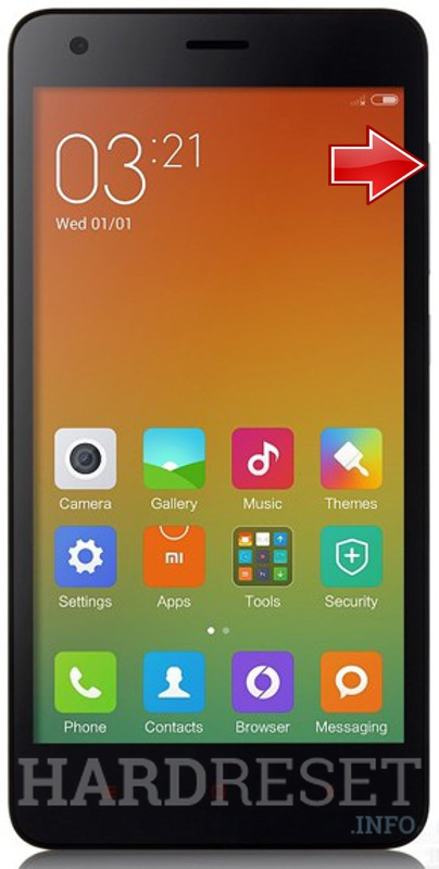 Wipe data on XIAOMI Redmi 2A