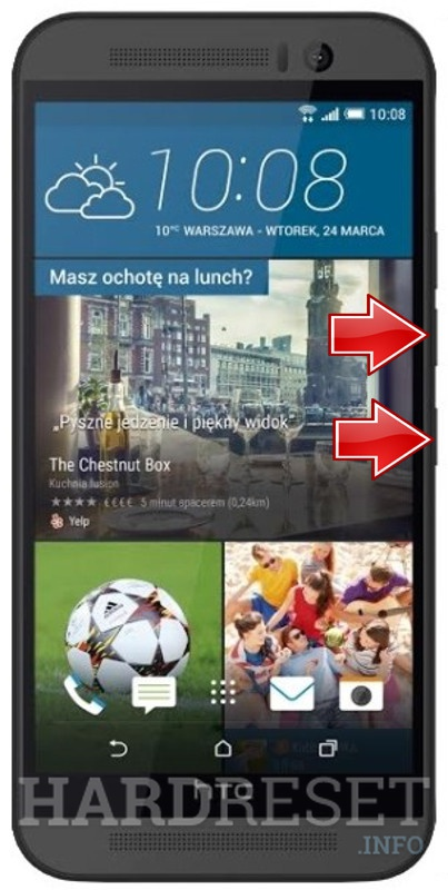 Master Reset HTC One M9 Prime Camera