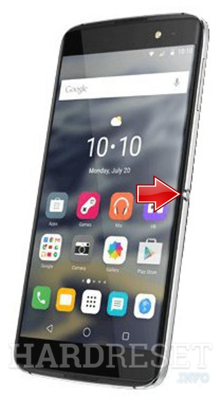Recovery Mode ALCATEL ONE TOUCH IDOL 4S 6070O - HardReset info