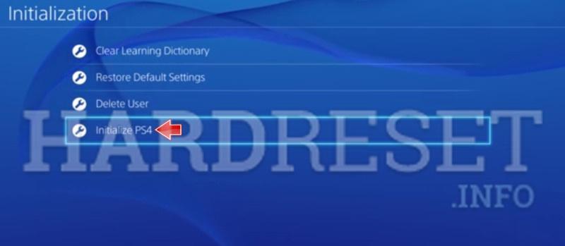 Hard Reset SONY PlayStation 4 - HardReset info