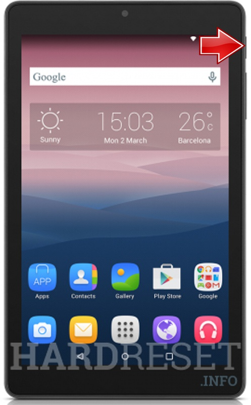 Hard Reset ALCATEL One Touch Pixi 3 (8) WiFi