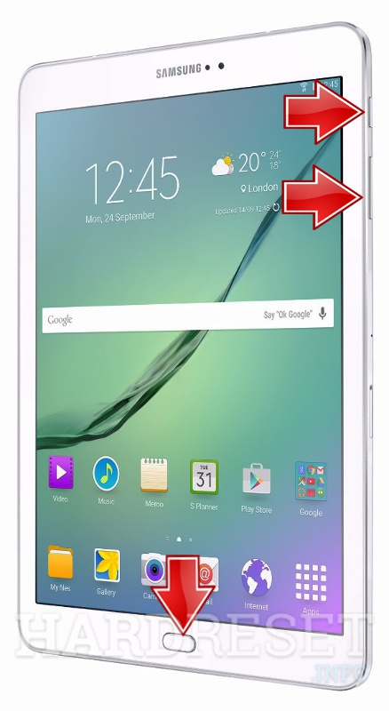 Factory Reset SAMSUNG T719 Galaxy Tab S2 VE 8.0 LTE