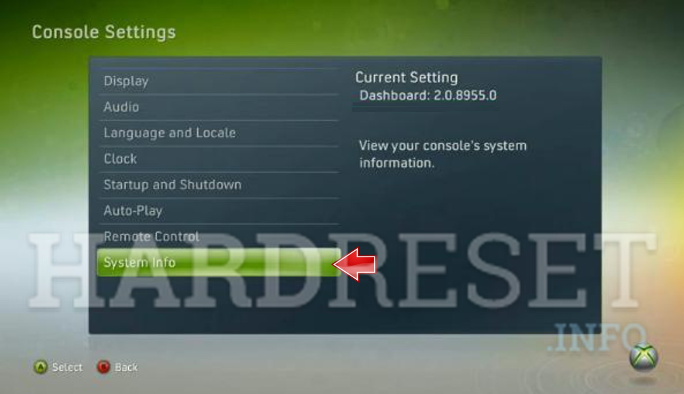 Factory Reset MICROSOFT Xbox 360 Super Elite