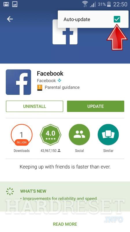 Facebook Auto-Update