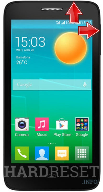 HardReset ALCATEL ONE TOUCH POP D5